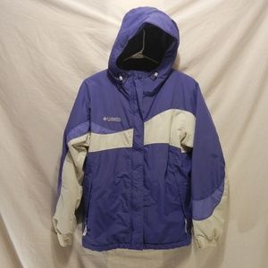 Columbia Periwinkle and White Sherpa Jacket